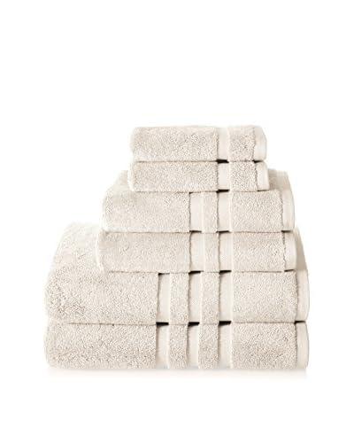 Chortex of England Irvington 6-Piece Towel Set, Cream