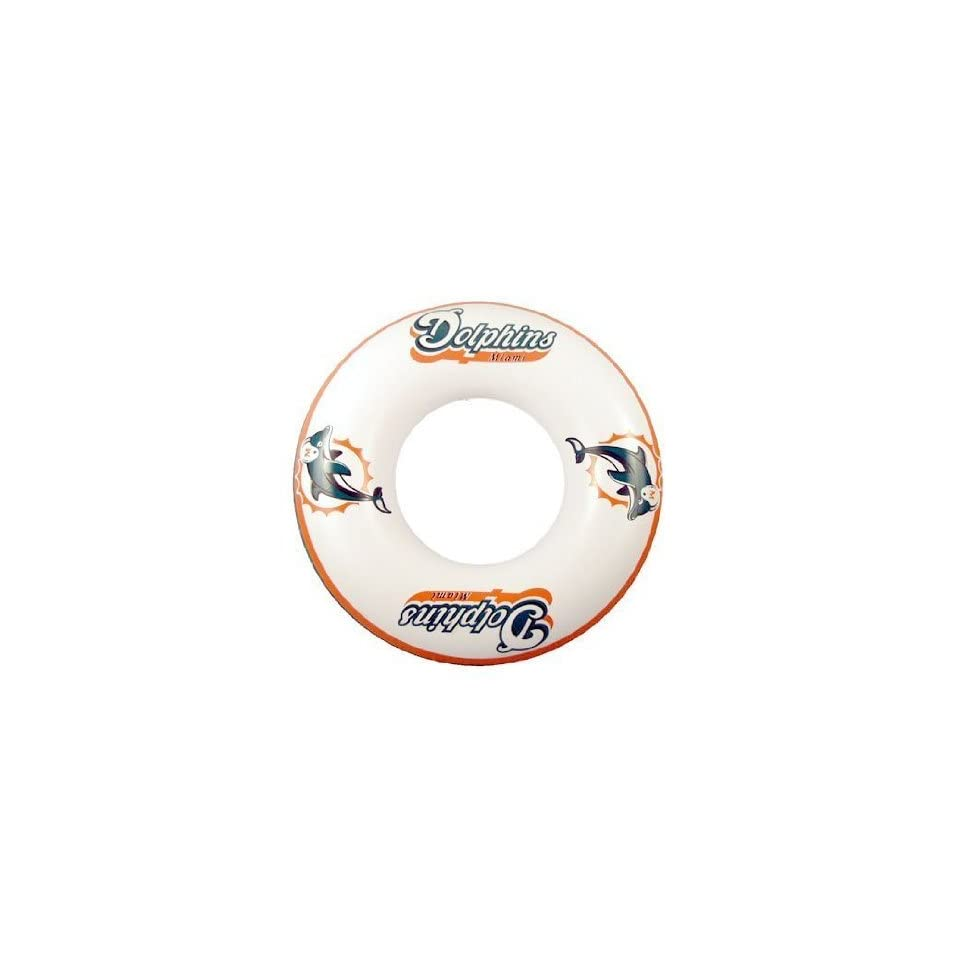 Miami Dolphins Inner Pool Float Tube Swim Ring 36 Inner Tube   Miami Dolphins   NFL Football Fan Shop Sports Team Merchandise