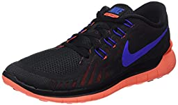Nike Men\'s Free 5.0 Black/Rcr Bl/Ttl Crmsn/Drk Gry Running Shoe 8.5 Men US