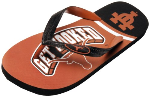 NCAA Texas Longhorns Spirit Flip Flops (Burnt Orange, Small) at Amazon.com