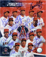 Signed Angels, Anaheim (2002) 8x10 By the 2002 Anaheim Angels (Bengie Molina, Brad... by Powers+Collectibles