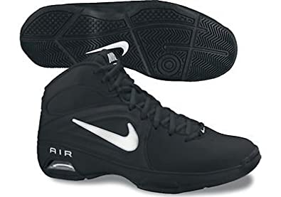 Womens Nike Air Visi Pro III Basketball Shoe Black/Metallic Summit White Size 11