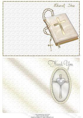 Bibel, Rosenkranz Perlen in Herzform englische Aufschrift Thank You Haftnotizen von Vicki Avcin