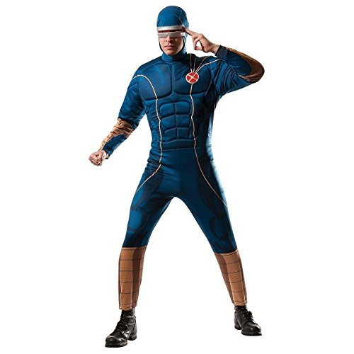 GSG Adult X-Men Cyclops Costume Marvel Hero Halloween Fancy Dress (Female Marvel Characters Costumes)