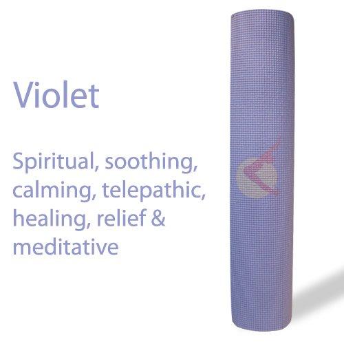 Imagen de Auroras Yoga Esteras - Ultra grueso, extra larga, con icono de punto focal y colores de luz. SGS aprobado Libre de ftalatos y látex. Gran servicio al cliente y todos los productos garantizados. Violeta, color violeta