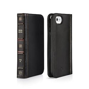 Twelve South BookBook Leder Schutzhülle für Apple iPhone 5/5S schwarz