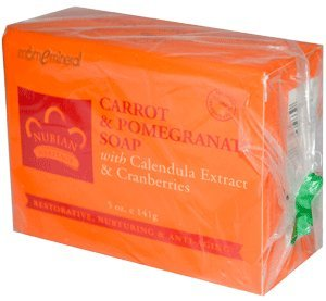 海外直送品Bar Soap, Carrot and Pomegranate 5 OZ by Nubian Heritage