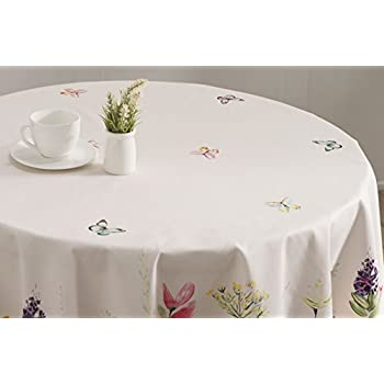 Maison d Hermine Botanical Fresh 100% Cotton Tablecloth 63 Inch Round