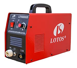 "LT5000D Lotos LT5000D 50A Air Inverter Plasma Cutter Dual Voltage 110/220VAC 1/2"" clean Cut by Lotos"