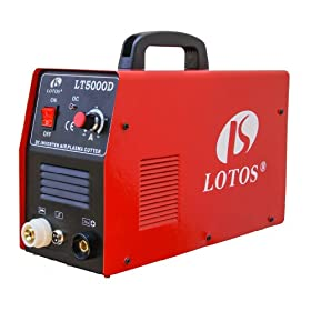 "LT5000D Lotos LT5000D 50A Air Inverter Plasma Cutter Dual Voltage 110/220VAC 1/2"" clean Cut"