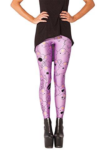 Women'S Fashion Digital Print Lumpy Space Princess Pattern Sexy Leggings