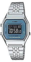 Casio Ladies Mid-Size Silver Digital Retro Watch LA680WA-2BDF