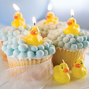 Yellow Rubber Ducky Cake Candles (Pack of 6)