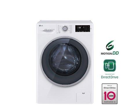 LG FH2U2QDN1 Libera installazione Caricamento frontale 7kg 1200RPM A+++-40% Bianco