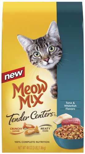 Detail image Meow Mix Tender Centers Tuna and Whitefish, 3-Pound (Pack of 3)