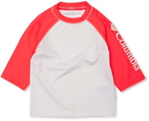 Columbia - T-shirt a maniche corte per bambini Mini Breaker, Bianco (Laser Red, White), XXS