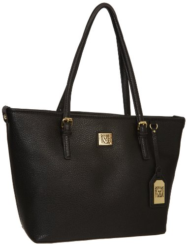 Anne Klein Perfect Medium Tote Handbag,Black,One Size