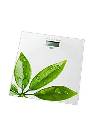 Bisk Báscula Electronic Leaf Blanco/Verde