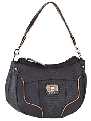 Guess Jemma Small Satchel Bag Black Multi Handbags