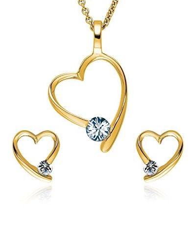 Saint Francis Crystals  gelbvergoldet Única