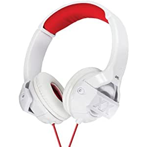 JVC HAS44XW Xtreme Xplosives On-Ear Headphones with Microphone and Remote, White