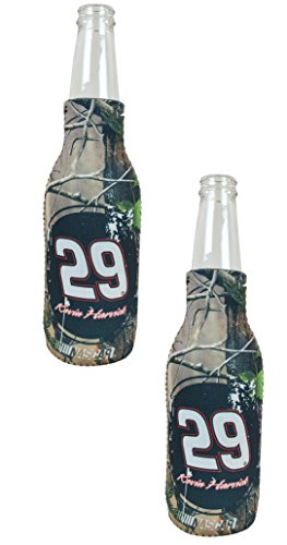 Official Auto Racing NASCAR Fan Shop Authentic 2-pack Coozie Bottle Cooler (Kevin Harvick - 29 Camo)