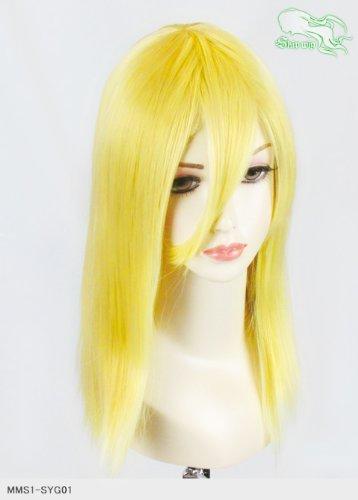 スキップウィッグ 魅せる シャープ 小顔に特化したコスプレアレンジウィッグ フェアリーミディ ネオンイエロー