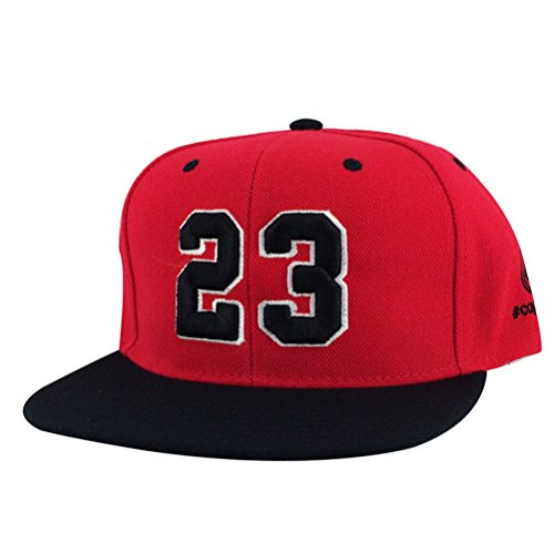 535d4a6b9a4 Number  23 Red White Black Visor Snapback Hat Cap X Air Jordan Og Bulls