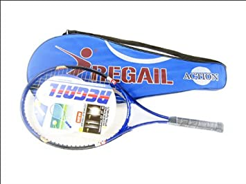 Regail Adult Tennis Racket with Cover for Beginners-1 pcs