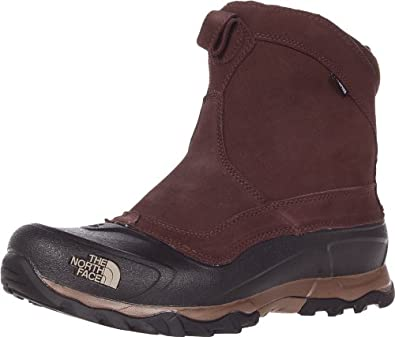 The North Face Men's Snowfuse Pull-On Snow Boot,Demitasse Brown/Dune Beige,10 M US