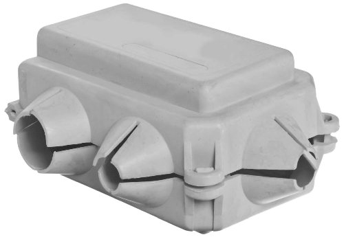 """Morris Products 91114 Flexible Insulating Cover, Gray Cover, 1/0 Awg, 2-5/8"""" Length, 2-5/32"""" Width, 1-1/4"""" Height"""