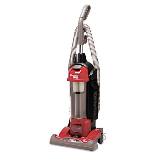 Electrolux Sanitaire True Hepa Commercial Bagless/Cyclonic Upright Vacuum, Red - One Commercial Bagless Upright Vacuum. front-104990