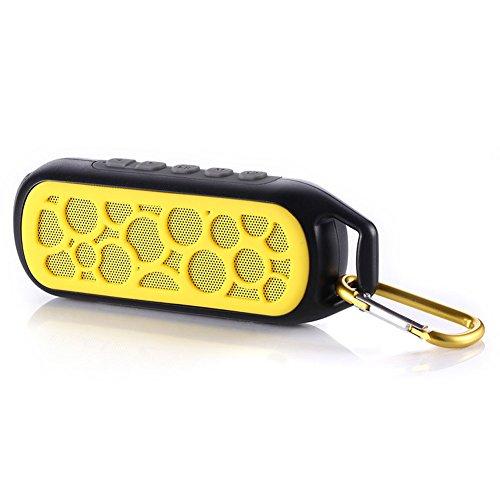 Geekbuzz Haut-parleur Enceinte Bluetooth Portable Sans Fil Etanche Extérieur Randonnée Camping Vélo Douche, Jaune