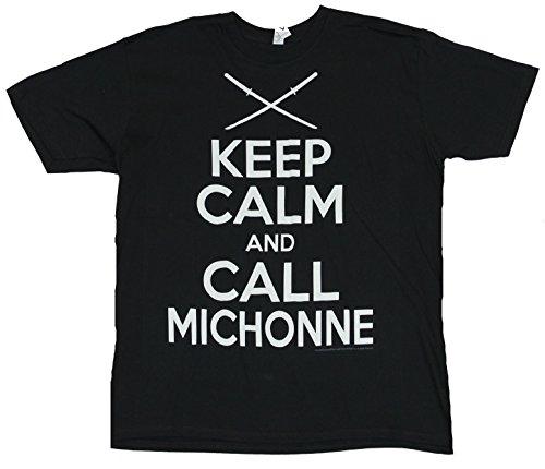 The Walking Dead Mens T-Shirt - Keep Calm And Call Michonne (Medium) Black