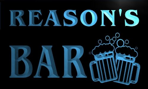 W012363-B Reason'S Name Home Bar Pub Beer Mugs Cheers Neon Light Sign