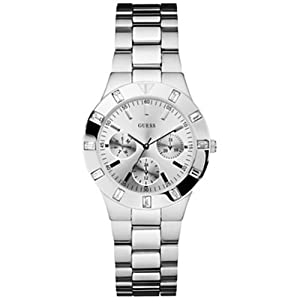 GUESS U10075L1 Feminine Hi-Shine Sport Mid-Size Watch -