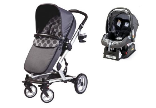 Peg Perego 2012 Skate Stoller With Primo Viaggio Car Seat in Pois Grey