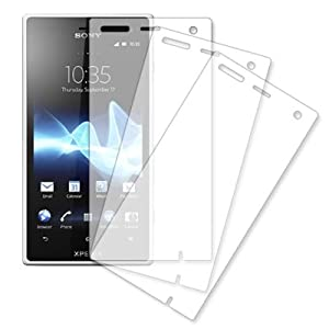 MPERO 3 Pack of Clear Screen Protectors for Sony Xperia Acro S LT26w