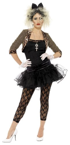Smiffy's Women's 80S Wild Child Costume - Desperately Seeking Susan Madonna - Sizes 10 to 20