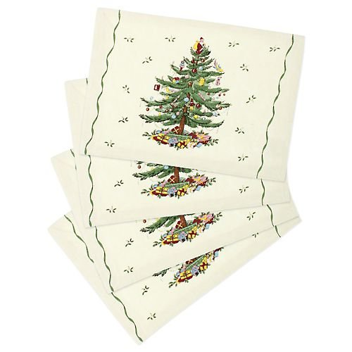 Spode Christmas Tree 4-pc. Placemat Set MULTI Spode Christmas Tree Cloth
