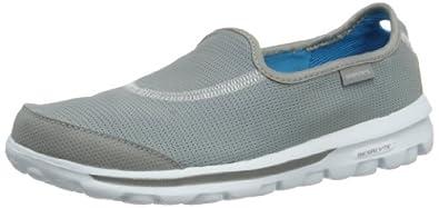 Skechers Women's Go Walk Recovery Slip-On,Grey/Turquoise,5.5 M US