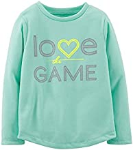 Carter39s Girl39s LS Mint Green quotLove The Gamequot Tee