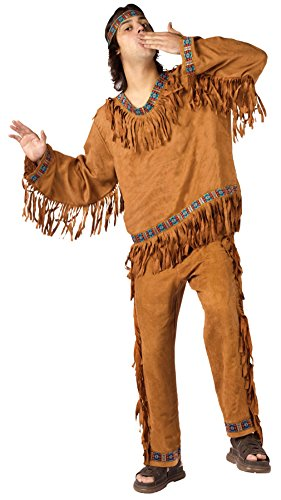Funworld Mens Western Theme Party Fancy Dress American Indian Costume