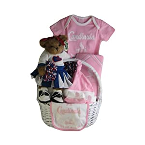 St. Louis Cardinals Baby Girl Gift Basket ***HOME RUN***