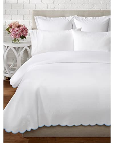 Belle Epoque Isabel Embroidered Scalloped Coverlet