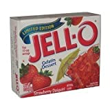 Jell-O Gelatin Dessert Strawberry Daiquiri (Pack of 4) 3oz Boxes