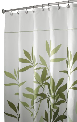 InterDesign Leaves Stall Shower Curtain Green 54 Inch By 78 Ferns