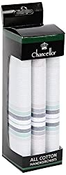 Chancellor Men's Handkerchief, Pack of 3 Pc (Pastel Colours)