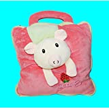 ShopyBucket Cute Animal Face New Design Baby Bag Cum Super Soft Velvet Covering Blanket Size 42 X 56""