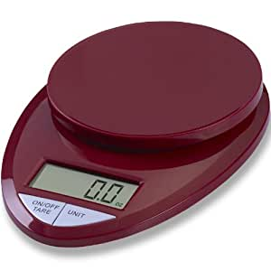 EatSmart Precision Pro Digital Kitchen Scale, Red